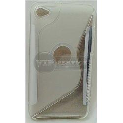 iPod touch 4 чехол-накладка силиконовый волна, прозрачный
