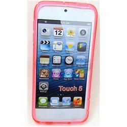 iPod touch 5 чехол-накладка силиконовый волна, красный