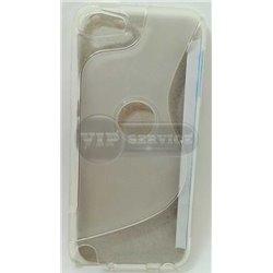 iPod touch 5 чехол-накладка силиконовый волна, прозрачный