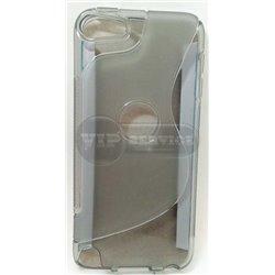 iPod touch 5 чехол-накладка силиконовый волна, серый