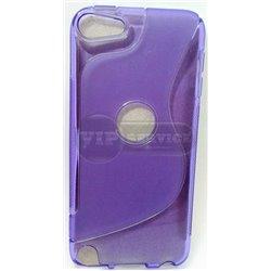 iPod touch 5 чехол-накладка силиконовый волна, фиолетовый