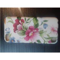 iPod touch 5 чехол-накладка силиконовый, цветочки