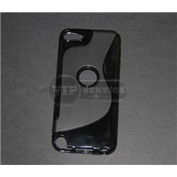 iPod touch 5 чехол-накладка силиконовый волна, черный