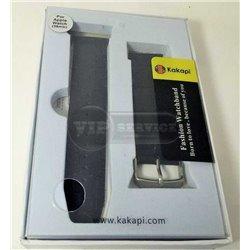 ремешок iWatch 38mm Kakapi черный кожаный