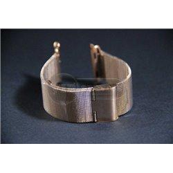 ремешок iWatch 38mm Melano loops мелкая плетенка золотой сталь