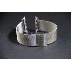 ремешок iWatch 38mm Melano loops мелкая плетенка серебристый сталь