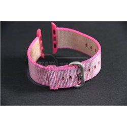 ремешок iWatch 38mm из плетёного нейлона розовый копия