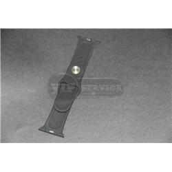 ремешок iWatch 38mm с застёжкой pin-and-tuck черный силиконовый