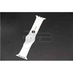 Watch 38mm ремешок, силиконовый с застёжкой pin-and-tuck, белый