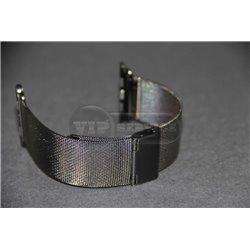 Watch 42mm ремешок Melano loops, из нержавеющей стали, мелкая плетенка, черный