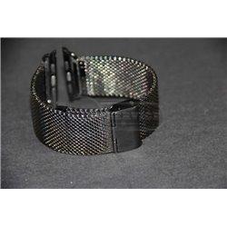 Watch 42mm ремешок Melano loops, из нержавеющей стали, средняя плетенка, черный