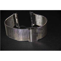 Watch 42mm ремешок Melano loops из нержавеющей стали, мелкая плетенка, серебристый