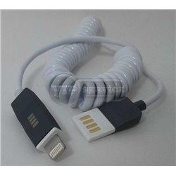 кабель USB lightning витой, белый