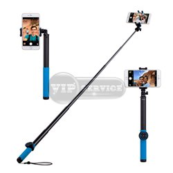 Monopod палка для селфи Momax Selfie Hero Bluetooth, синяя