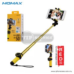 Monopod палка для селфи Momax Selfie Hero Bluetooth, желтая