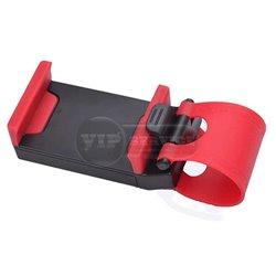 держатель автомобильный на руль (car steering wheel phonesocket holder), красный