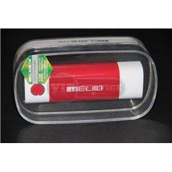 Meliid 5000mAh внешний аккумулятор, овальный, красно-белый