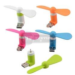 Mini USB Fan мини-вентилятор microUSB/USB, салатовый