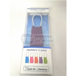 кабель Honey Care Apple 4, Samsung, бирюзовый/оранжевый/розовый/фиолетовый/черный