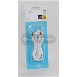 кабель AUX Pisen 1,5m белый