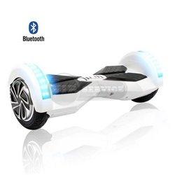 Гироскутер с Bluetooth колонками, 8 дюймов, белый