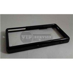 Z3 mini бампер на торцы, силиконовый, черный