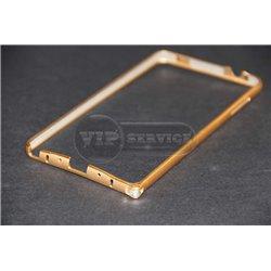 Note 4 бампер на торцы, металлический, золотой