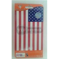 Galaxy Note 2 виниловая наклейка Newmond Флаг США №Q3-006