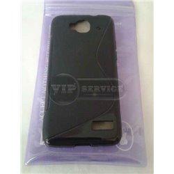 One Touch Idol mini 6012D чехол-накладка, силиконовый волна, черный