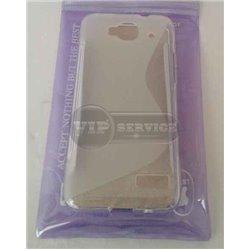 One Touch Idol mini OT6012D чехол-накладка, силиконовый волна, прозрачный