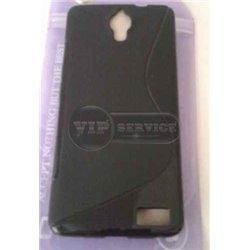 One Touch Idol X OT6040 чехол-накладка, силиконовый волна, черный