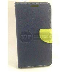Zenfone 5 чехол-книжка Mercury, со слотами для пластиковых карт, на магнитной застежке, экокожа, темно-синий