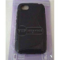 BB Q5 чехол-накладка, силиконовый волна, черный