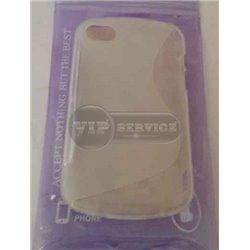 BB Q10 чехол-накладка, силиконовый волна, прозрачный