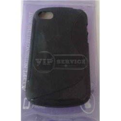 BB Q10 чехол-накладка, силиконовый волна, черный
