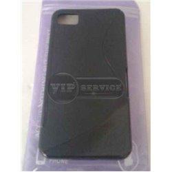 BB Z10 чехол-накладка, силиконовый волна, черный