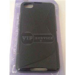 BB Z30 чехол-накладка, силиконовый волна, черный