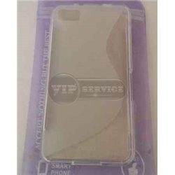 BB Z10 чехол-накладка, силиконовый волна, прозрачный