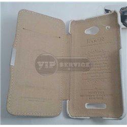 Butterfly чехол-книжка iCarer, кожаный, со слотом для пластиковой карты, белый