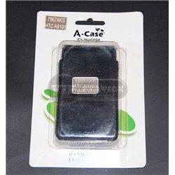 Desire HD чехол-блокнот A-Case, кожаный, черный