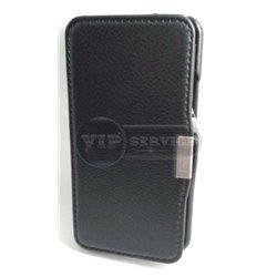 One M7 чехол-книжка iCarer, кожаный, черный