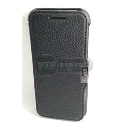One M8 чехол-книжка iCarer, кожаный, со слотом для пластиковой карты, черный