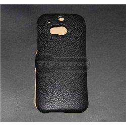 One M8 чехол-блокнот iCarer, кожа, черный