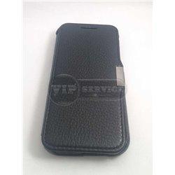 One M9 чехол-книжка iCarer, кожаный, со слотом для пластиковой карты, черный
