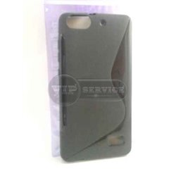 Honor 4C чехол-накладка, силиконовый волна, черный