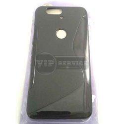 чехол-накладка Huawei Nexus 6P Wave черный силиконовый