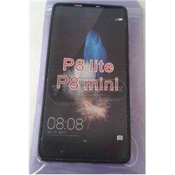 чехол-накладка Huawei P8 Lite Wave черный силиконовый