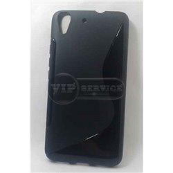 Honor 4A/Y6 чехол-накладка, силиконовый волна, черный