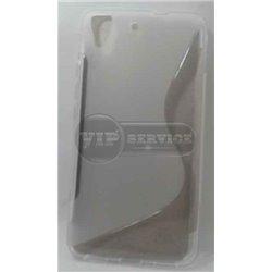 Honor 4A/Y6 чехол-накладка, силиконовый волна, прозрачный