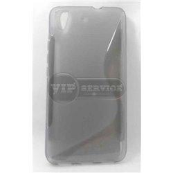 Honor 4A/Y6 чехол-накладка, силиконовый волна, серый